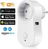 Wifi tijdschakelaar met usb poort / stopcontact /  slimme stekker / werkt met ios of android app