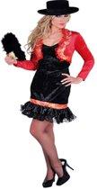 Luxe spaanse jurk zwart met rood 42 (xl)