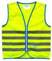Veiligheidshesje Wowow Fun Fietsjas - Maat M  - Unisex - geel/blauw/zilver