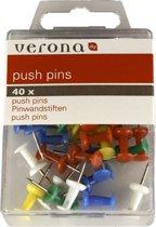 Push pins gekleurd 40 stuks - punaises