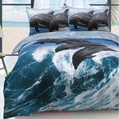 Dolfijn dekbedovertrek - 1 persoons - Dolfijnen dekbed