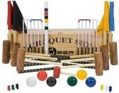 Origineel Engelse Tuin Croquet set, 6 persoons-Kist