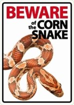Waakbord - Beware of the Corn snake