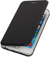 BestCases.nl Apple iPhone 6 Plus / 6s Plus Folio leder look booktype hoesje Zwart