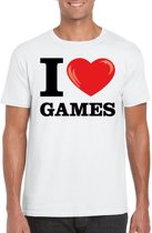 I love games t-shirt wit heren L