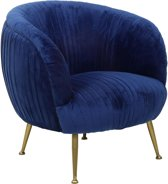 Light & Living TILTON - Fauteuil- velvet blauw