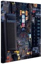 FotoCadeau.nl - Times Square  Canvas 60x80 cm - Foto print op Canvas schilderij (Wanddecoratie)