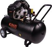 Kibani compressor 100 liter dubbele cilinder, 3 pk