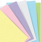 Filofax Aanvulling  voor Hervulbare  Classic A5 Notebook Pastel Gelinieerd  Papier