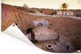 Zonnige dag in het Tunesische Matmata in Afrika Tuinposter 60x40 cm - klein - Tuindoek / Buitencanvas / Schilderijen voor buiten (tuin decoratie)