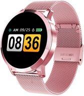 SmartWatch-Trends Q8 - Smartwatch - Roze/Metaal