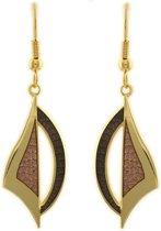 Behave® Oorbel hanger bruin emaille