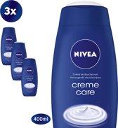 NIVEA Crème Care Douchecrème - 3 x 400 ml - Voordeelverpakking