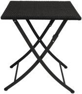 Bolero vierkante stalen/kunststof opklapbare rotan tafel | 60x60 cm