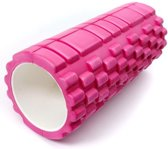 Massage foam roller GRID (33 cm) - Roze