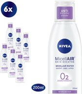 NIVEA Essentials Sensitive & Verzorgend 6 x 200 ml - Micellair Water - voordeelverpakking