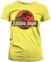 Jurassic Park Distressed Logo dames T-shirt geel - M