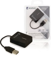 König, Kaartlezer Multi Card USB 2.0 (Zwart)
