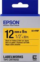 Epson Pastel Tape - LK-4YBP Pastel Blk/Yell 12/9