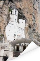 Het Ostrogklooster in het Europese Montenegro Poster 120x180 cm - Foto print op Poster (wanddecoratie woonkamer / slaapkamer) XXL / Groot formaat!