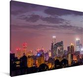 Uitzicht over Beijing Canvas 140x90 cm - Foto print op Canvas schilderij (Wanddecoratie woonkamer / slaapkamer)