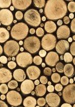 2LIF Logs Tafelzeil - PVC -  140 x 170 cm