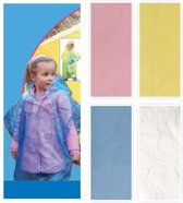Regen poncho voor kinderen blauw