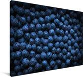 Mysterieuze blauwe bessen Canvas 60x40 cm - Foto print op Canvas schilderij (Wanddecoratie woonkamer / slaapkamer)