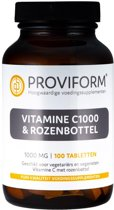 Proviform Vitamine C 1000 & Rozenbottel - 100 Tabletten  - Vitaminen