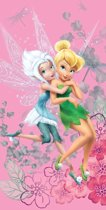 Disney Fairies Tinkerbell Winter - Strandlaken - 70 x 140 cm - Roze