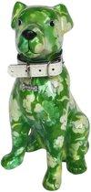 Pomme Pidou spaarpot hond Mylo - Groen met witte bloemen