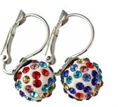 Fako Bijoux® - Oorbellen - Disco Dots - Clip - Multicolour