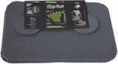 Placemat en onderzetter set - grijs - StayPut