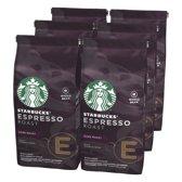 Starbucks® Espresso Roast Dark Roast Koffiebonen - 6 x 200 gram