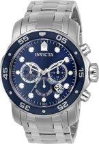 Invicta - Pro Diver 0070 - Polshorloge - Zilverkleurig/Blauw