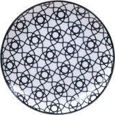 Tokyo Design Studio Nippon Black Plate 16x2cm Stripe