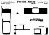 Richter Prewoodec Interieurset Suzuki Jimny 10/1998- 7-delig - Carbon-Look