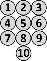 Magnetische Cijfers Rond 1 t/m 10 - 5  cm - Whiteboard Magneten