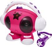 Bigben Karaoke Robot met 2 Microfoons - USB Aansluiting & Voice Recording - Roze
