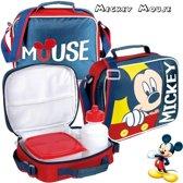Mickey Mouse - lunchbox - inclusief handige draagtas ( koeltasje )