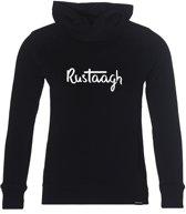 Rustaagh handwritten Hoodie unisex zwart 152-164