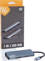 Type-C USB3.0 HDMI 4k SD card Ethernet Netwerk Lan - 7 in 1 USB C Hub en Adapter Dockingstation voor Mac OS/Windows/Linux/Android