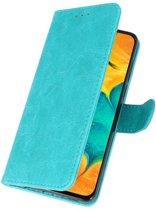 Bookstyle Wallet Case Hoesje voor Samsung Galaxy A30 Groen