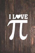I heart Love Pi - Pie - Funny Math Pun Journal