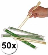 Eetstokjes - Bamboe - Hout - 50 Stuks