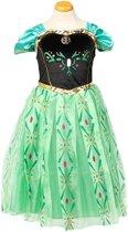 Prinses Anna verkleedjurk maat 110 (labelmaat 120) - prinsessenjurk