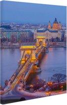 Boedapest Oost-Europa Canvas 80x120 cm - Foto print op Canvas schilderij (Wanddecoratie)