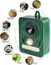 Ongedierte Bestrijding - Ultrasoon - Tuin - Dieren - Afschrikken - Verjagen - Weren - Bestrijder - Gazon - Zon Energie - Geluid - Licht - Beweging Sensor - Anti Katten - Honden - Muizen