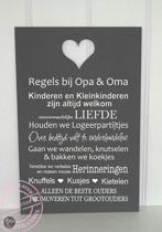 Tekstbordengroothandel.nl Wand- of plafonddecoratie Tekstbord Regels Opa & Oma H5