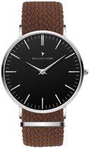 Wallace Hume Zwart - Horloge - Perlon - Bruin